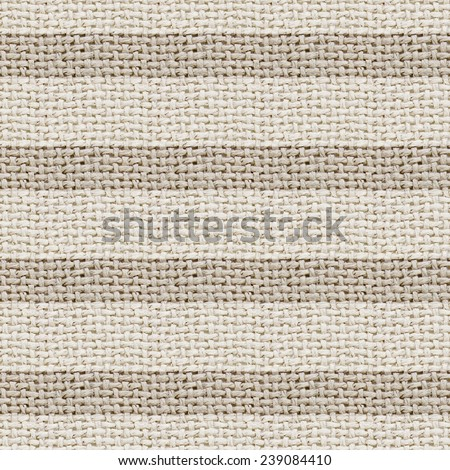 natural burlap texture digital paper with stripes  - stock photo