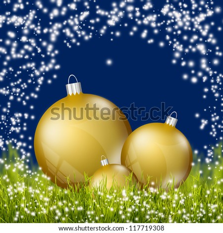 Natural christmas background - stock photo