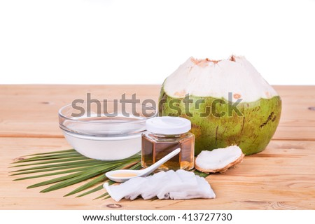 Natural coconut juice with raw honey are natural toner to reduce face acne and smoother facial skin.