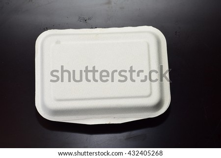 Natural container for food for environment,100% natural fiber - stock photo