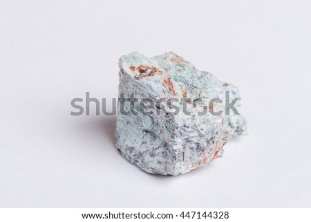 natural copper isolated on the white background