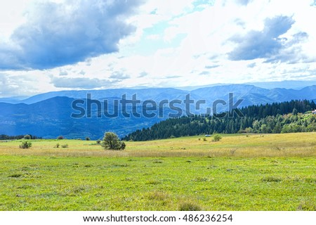 Natural countryside landscape