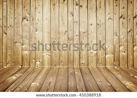 natural curved wooden texture background - stock photo