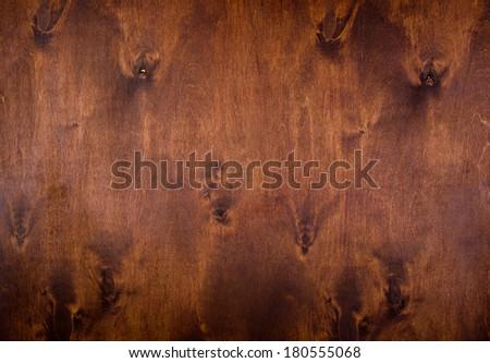 natural dark brown wood background - stock photo