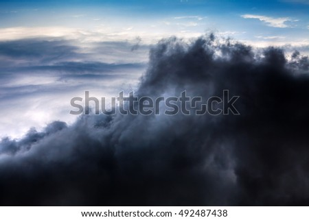 Natural Dramatic Clouds Area Background