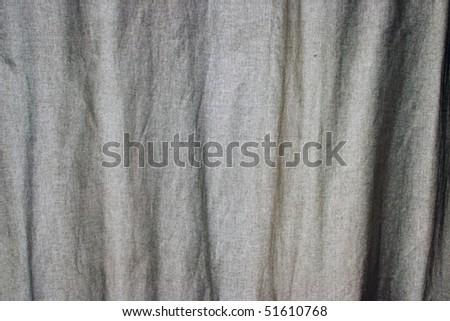 Natural  Fabric Textured  curtain Background in a horizon Orientation. - stock photo