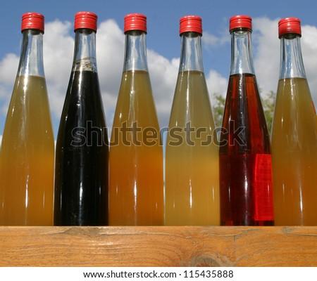 Natural fruit juice - stock photo