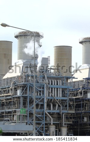 Natural Gas Combined Cycle Power Plant - stock photo