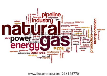 Natural gas concept word cloud background - stock photo