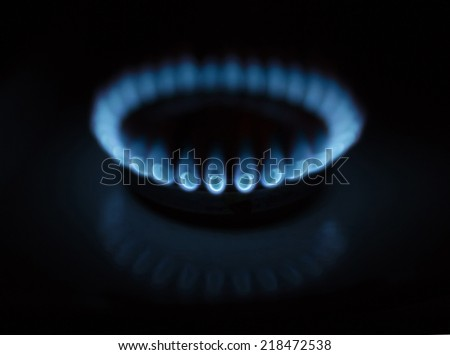 Natural Gas Flames - stock photo
