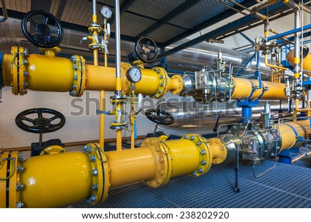 Natural gas inventory unit  - stock photo
