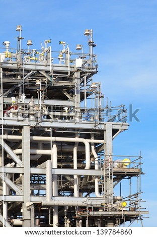 natural gas processing site - stock photo
