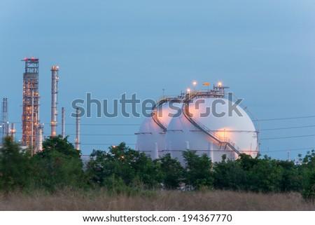 Natural Gas Tank - stock photo