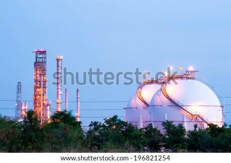 Natural Gas Tanks - stock photo