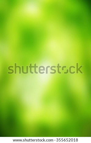 Natural green bright blur background of sunny summer forest