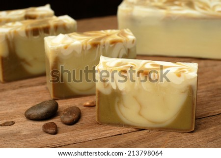 natural handmade soap  - stock photo