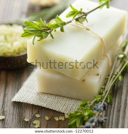 Natural Handmade Soap.Spa - stock photo