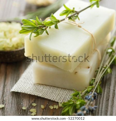 Natural Handmade Soap.Spa - stock photo