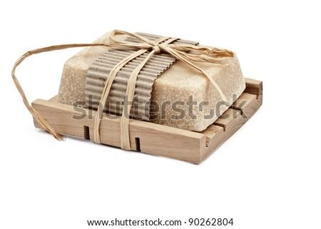 Natural Handmade Soap with honey - stock photo