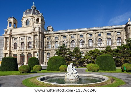 Natural History Museum in Vienna Austria - stock photo
