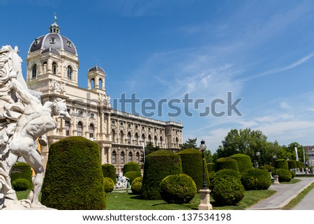 Natural History Museum, Vienna - stock photo