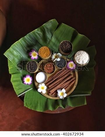 Natural ingredients for Thai spa rejuvenate - stock photo