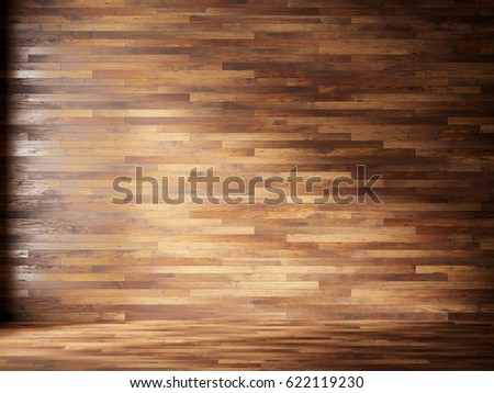 natural interior with wood wall panels