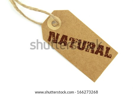 Natural label - stock photo