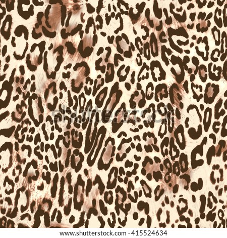 natural leo print ~ seamless background