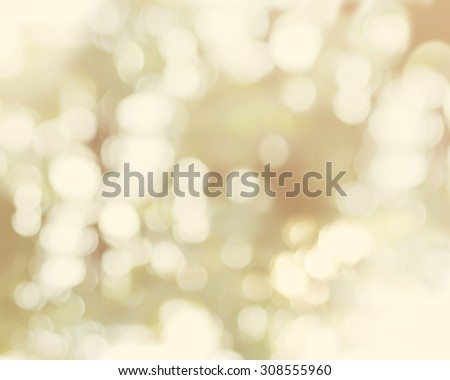 Natural Light Bokeh on Beige Background, Vivid Color  - stock photo