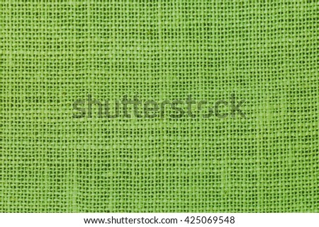 natural linen texture  background green. - stock photo