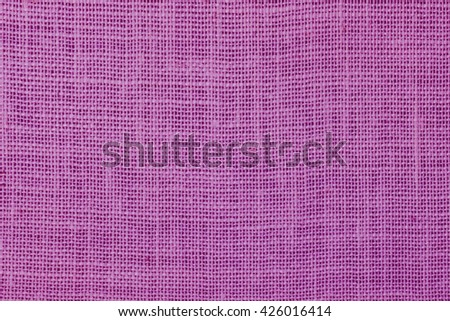 natural linen texture  background purple. - stock photo