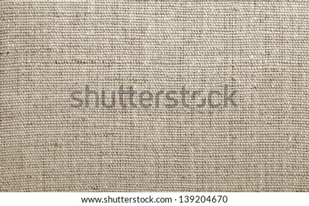 Natural linen texture, can use background - stock photo