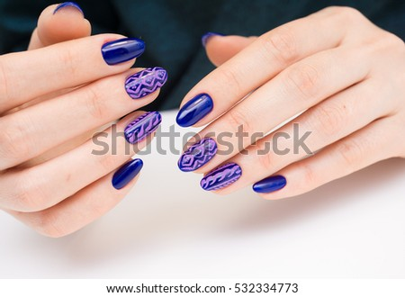 Natural Nails Gel Polish Perfect Clean Stock Photo (Royalty Free ...