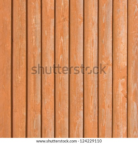 Natural old wood fence planks, wooden close board texture, overlapping light reddish brown closeboard terracotta background pattern - stock photo