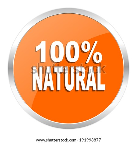 natural orange glossy icon