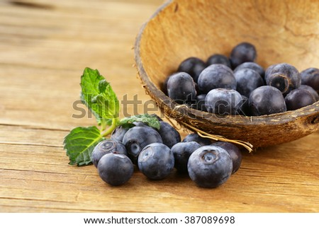 Natural organic berry ripe and juicy blueberries  - stock photo