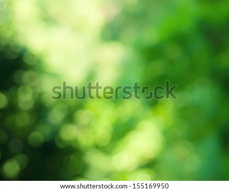 Natural outdoors bokeh background  in green and yellow tones  - stock photo