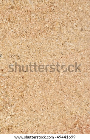 Natural patterns of the marble Corton Beige Rose patina finish - stock photo
