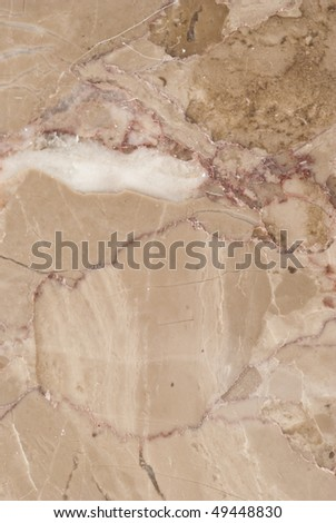 Natural patterns of the marble St Anne polished finish - stock photo