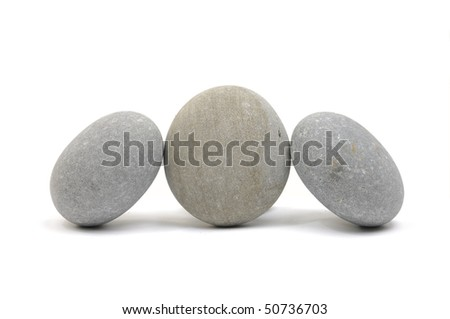 Natural piles of pebbles