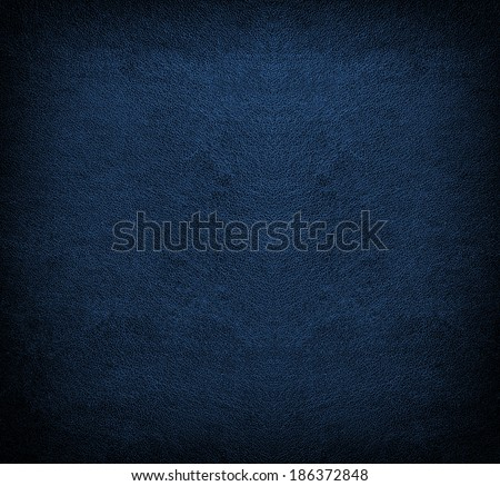 Natural qualitative blue leather texture. Close up.  - stock photo