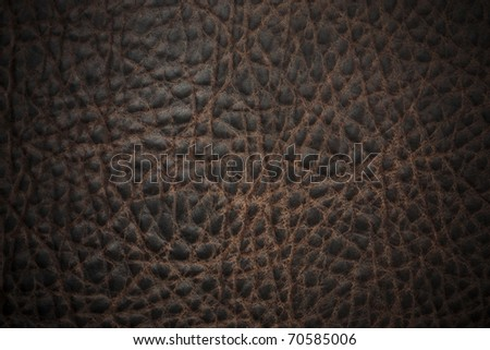 Natural qualitative brown leather texture - stock photo
