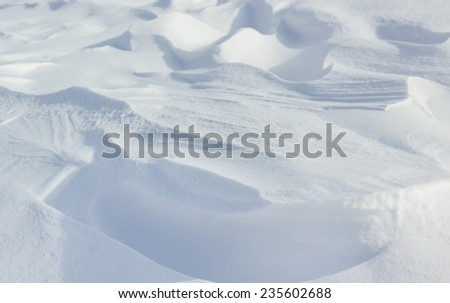 Natural raw snow capped textures