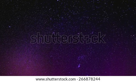 Natural Real Night Sky Stars Panoramic Background Texture - stock photo