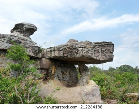 Natural rock in upcountry of Thailand.