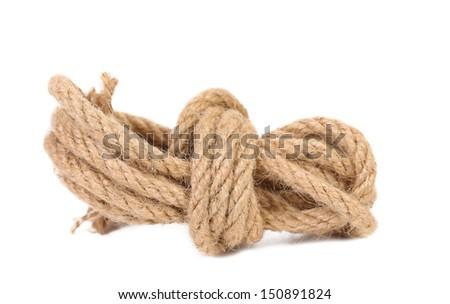 Natural rope. - stock photo