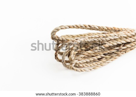 Natural rope made from water hyacinth