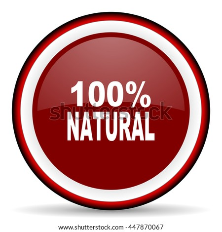 natural round glossy icon, modern design web element