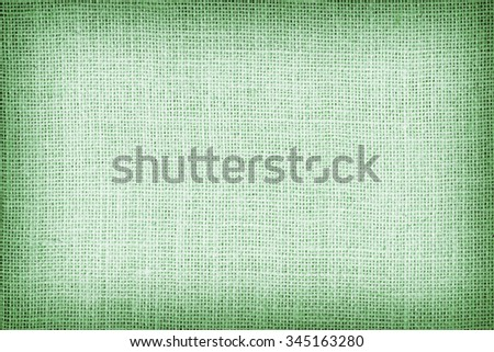 Natural  sackcloth textured for background, green colour. - stock photo